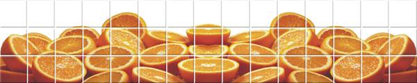 фотоплитка панно апельсин